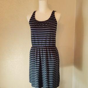 Ann Taylor Loft Striped Dress Sz XS Blue/Black